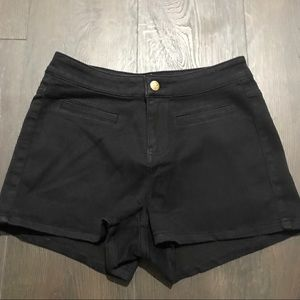 BRAND NEW! Black High Waisted Denim Bebe Shorts
